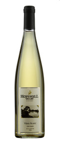 A bottle of Vidal Blanc wine produced by Hopewell Valley Vineyards - one of many New Jersey wineries