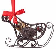 Cork Cage Sleigh Ornament