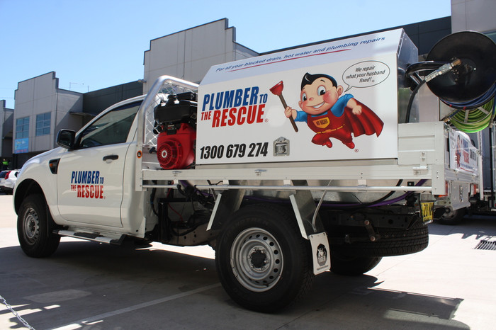 Plumber to the Rescue Ute Signs