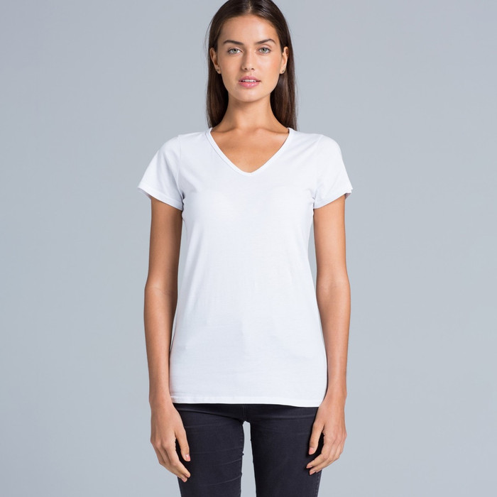 Bevel V-Neck T-Shirt