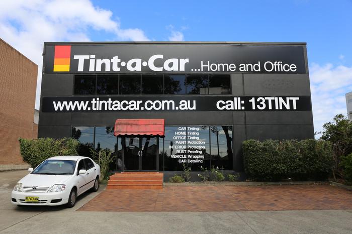 Tint a Car Building Signage