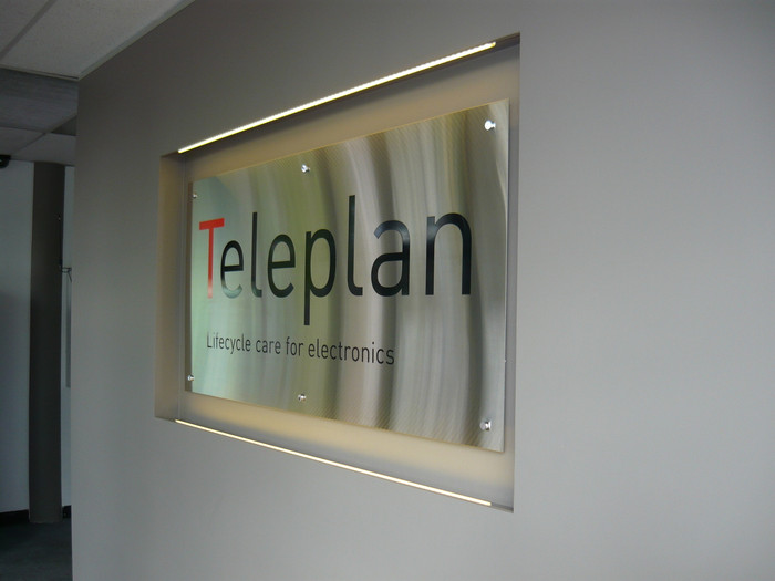 Teleplan Stainless Steel Reception Sign
