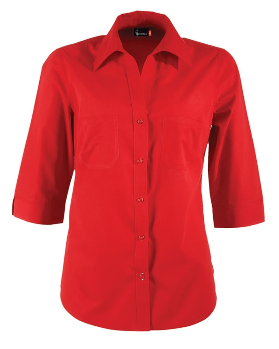 Ladies Harley Business Shirt - Red