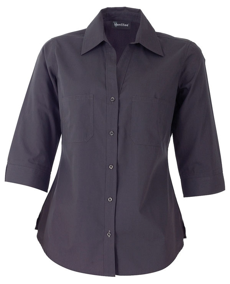 Ladies Harley Business Shirt - Gun Metal