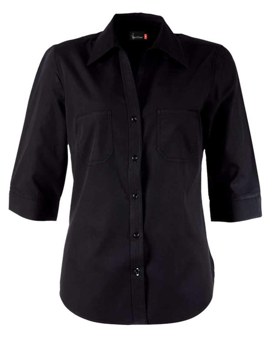 Ladies Harley Business Shirt - Black