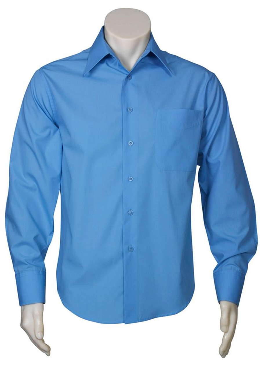 Mens L/S Metro Business Shirt - Mid Blue