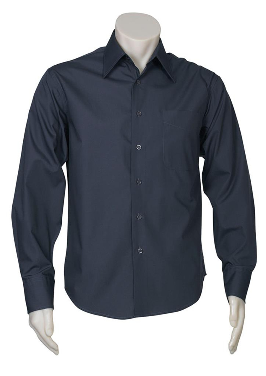Mens L/S Metro Business Shirt - Charcoal