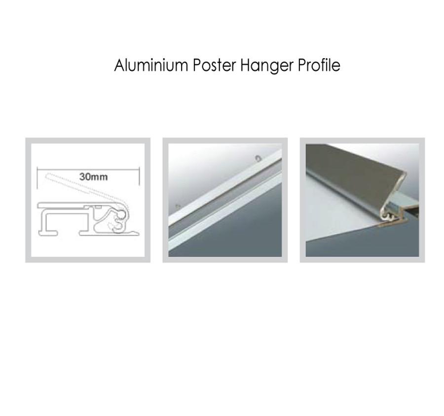 Aluminium Poster Hanger Profile