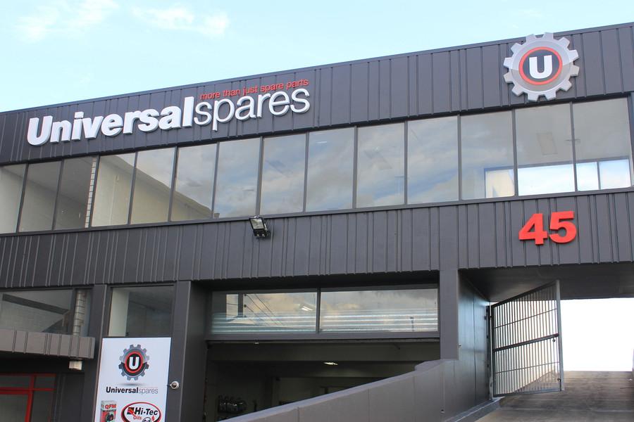 Universal Spares Building Signage