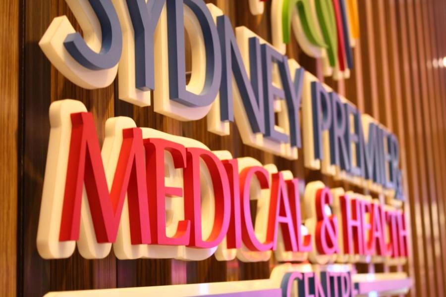 Sydney Medical Centre Reception Sign