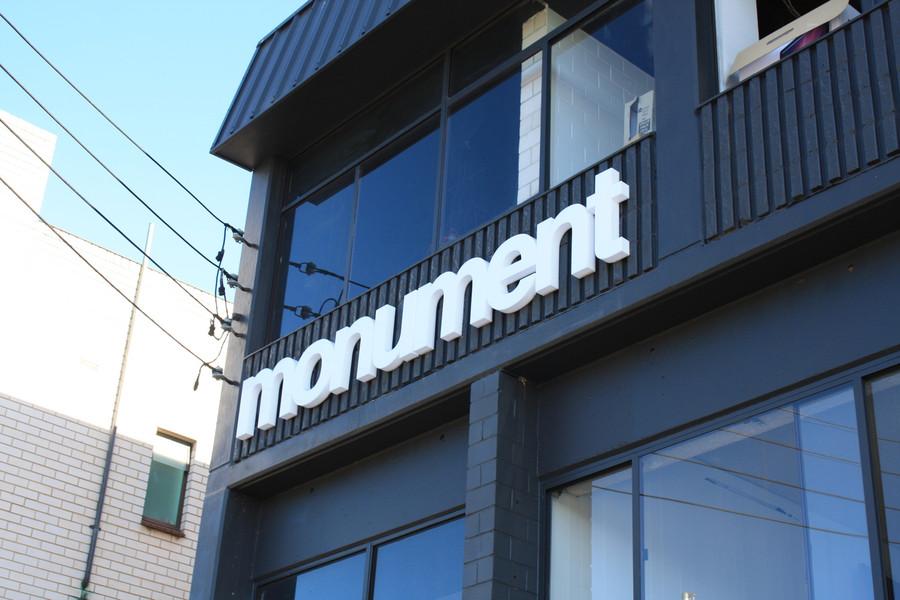 Monument Building Signage