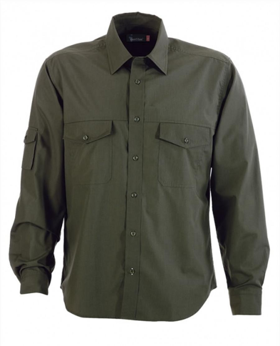 Mens L/S Harley Business Shirt - Military