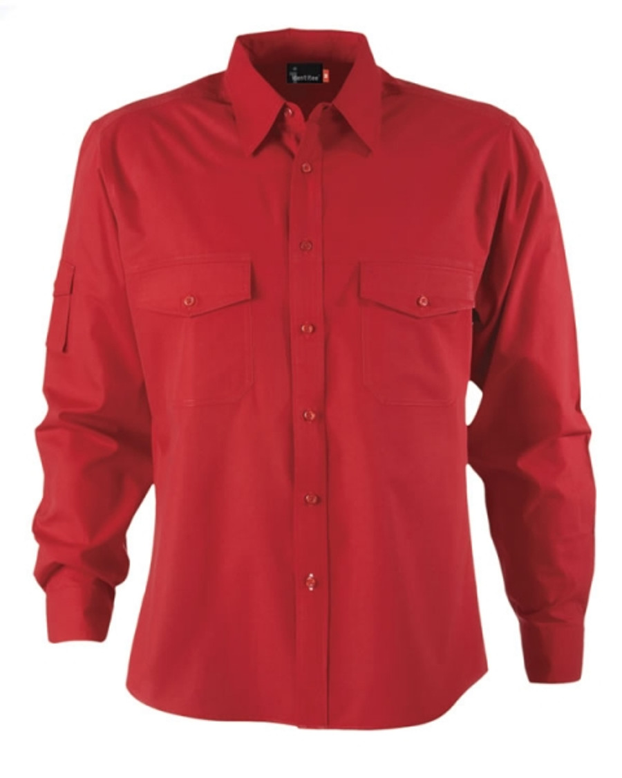 Mens L/S Harley Business Shirt - Red