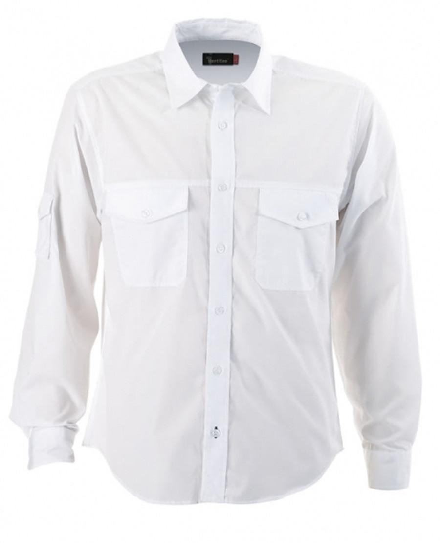 Mens L/S Harley Business Shirt - White