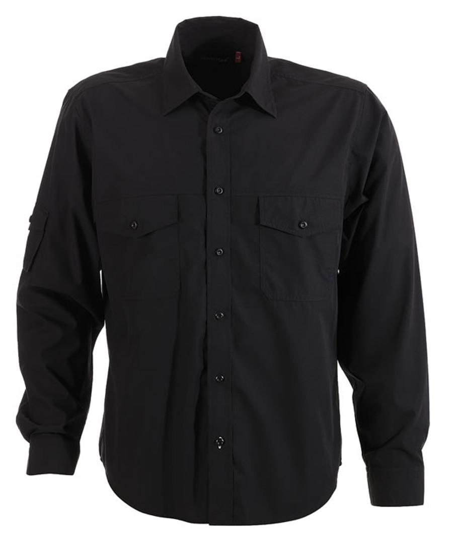 Mens L/S Harley Business Shirt - Black