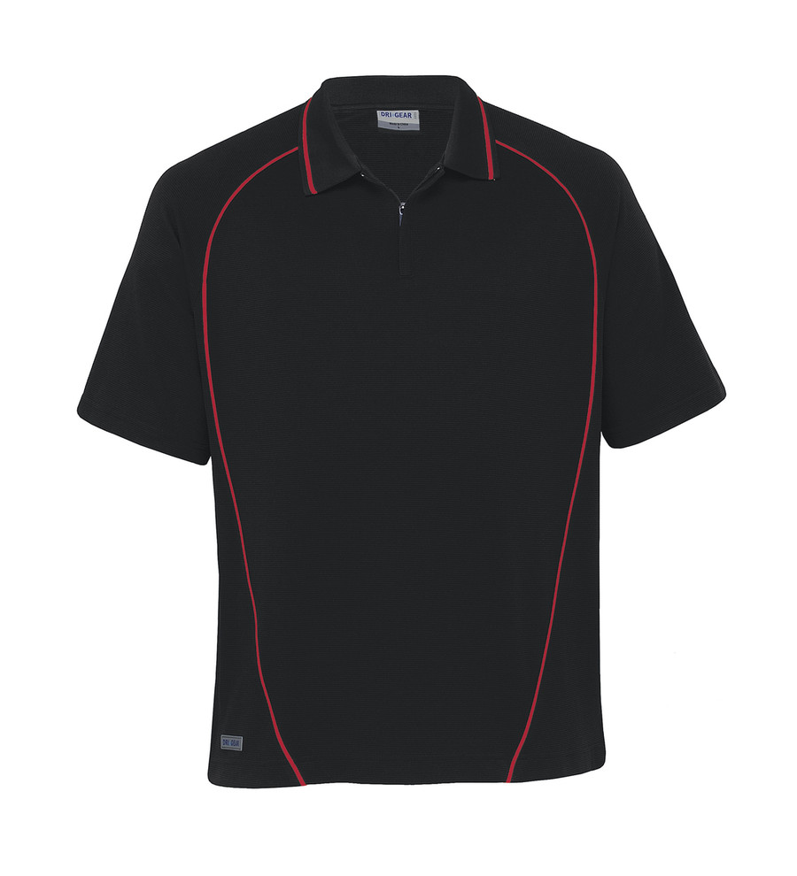 Piped Ottoman Instinct Polo - Black/Red