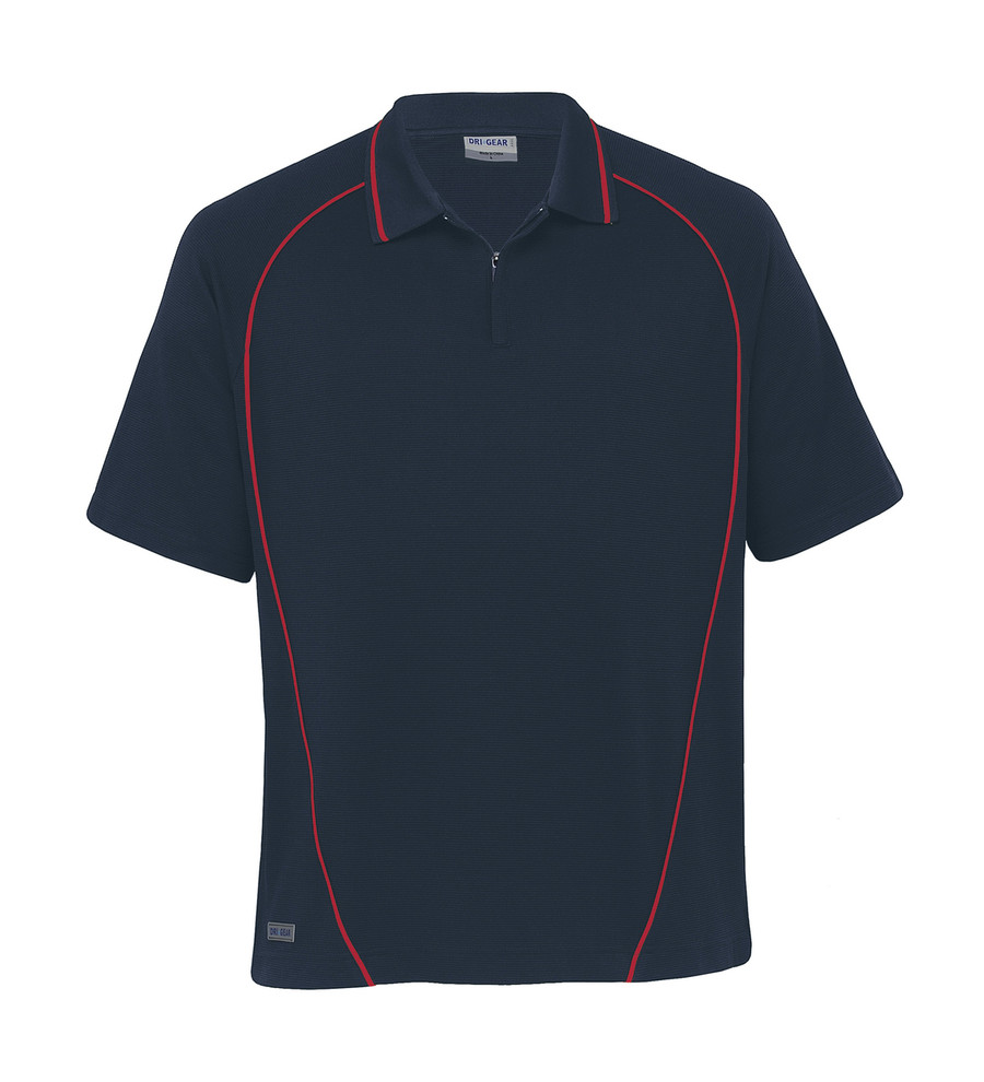Piped Ottoman Instinct Polo - Navy/Red