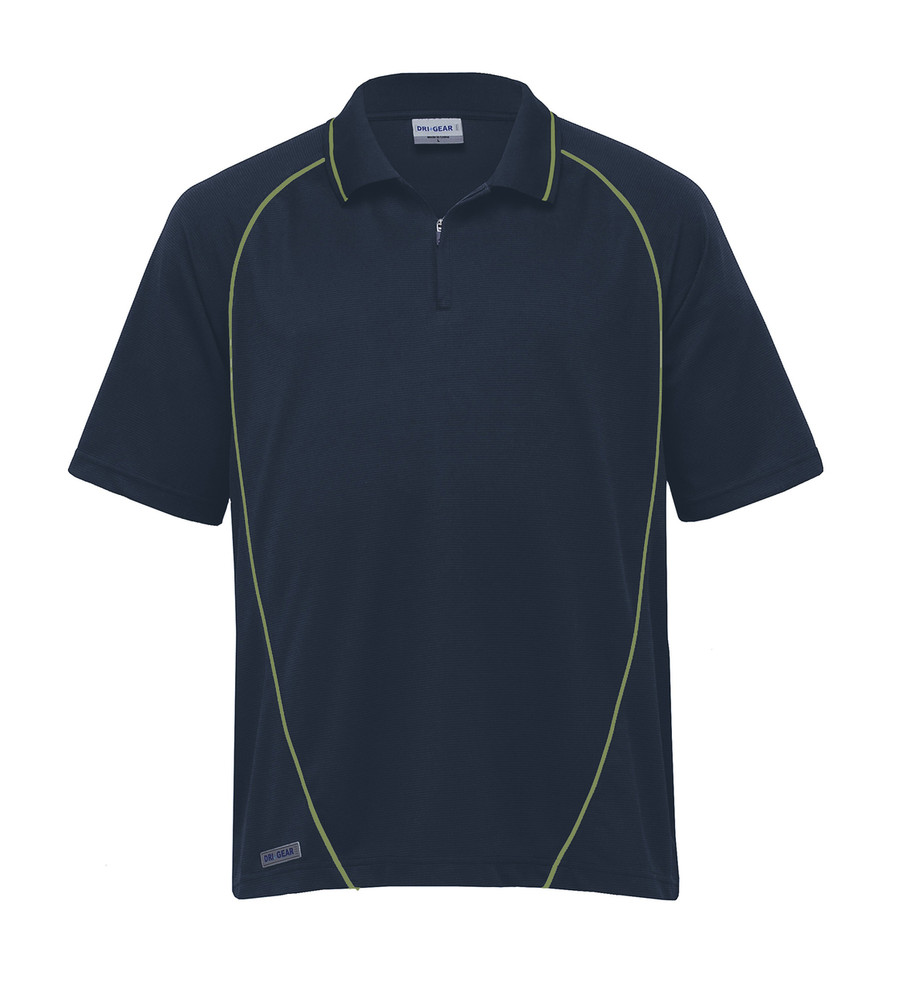 Piped Ottoman Instinct Polo - Navy/Apple