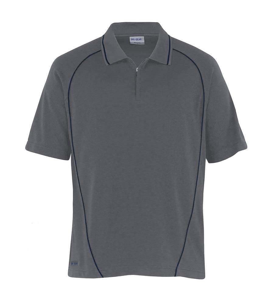 Piped Ottoman Instinct Polo - Charcoal/Navy