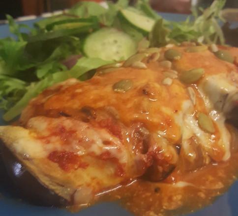Vegan Baked eggplant roll