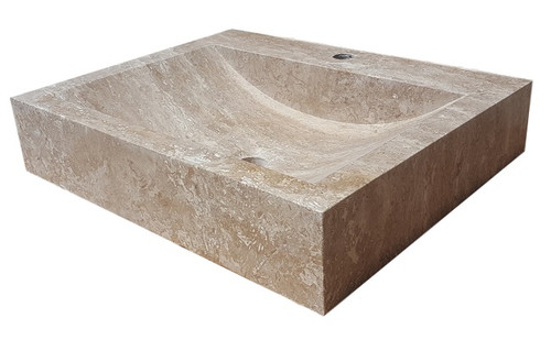 Rectangular Sink In Noce Travertine