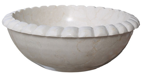 Rope Natural Stone Vessel Sink - Beige Marble (Clearance)