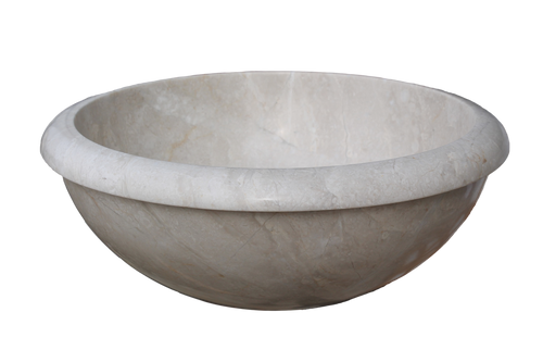 Stone Vessel Sinks Cheap : Rim Top Natural Stone Vessel Sink - Beige Marble (Clearance)