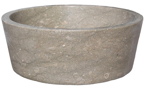 Stone Vessel Sink Clearance : Tapered Natural Stone Vessel Sink - Sea Grass Marble