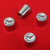 Valve Stem Caps with C5 Logo