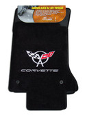 C5 Corvette Floor Mats with Logo & Lettering