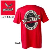 C7 CORVETTE LOGO LABELED T-SHIRT