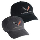 C7 CORVETTE PREMIUM GARMENT WASHED CAP