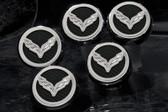 2014-2016 Corvette Z06/C7/Z51 Stingray | Fluid Cap Cover 5Pc Set with Corvette Flag Emblem