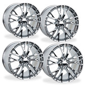 C7 CORVETTE Z06 STYLE CHROME WHEELS FITMENT FOR C7 Z51 (2) 19X8.5, (2) 20X10