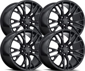 C7 CORVETTE Z06 STYLE GLOSS BLACK WHEELS FITMENT FOR C7 Z06 2015-2016  (2) 19X10 (2) 20X12