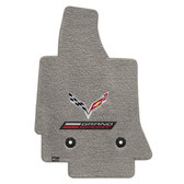 "2 ""C7 LLYODS ULTIMAT FRONT GRANDSPORT DOUBLE LOGO GREY FLOOR MATS"""