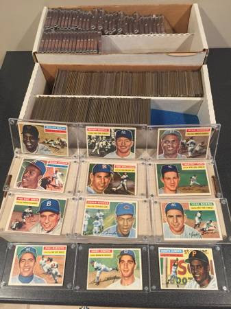 1956 Topps Baseball Cards COMPLETE Set of 340 G/VG condition