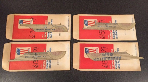 LOT OF 4 NOS OBS AMF HARLEY-DAVIDSON GAS TANK DECALS 1980'S FLH 61356/57/59-79 , SHOP THE GARAGE