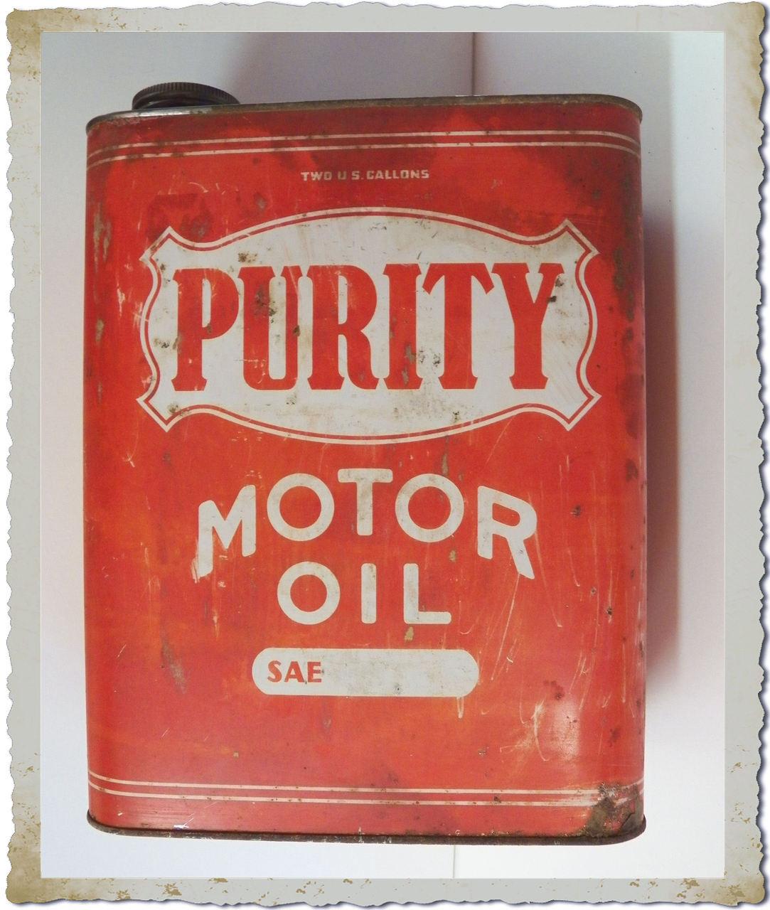 Purity 2 gallon motor oil can bingo 39 s swap meet garage for Gallon of motor oil price