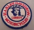 "Vintage Harley-Davidson Motorcycles "" Liberty"" patch"