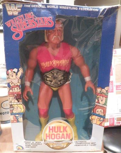 "LJN 16"" Hulk Hogan Figure in Box WWF Vintage 1985 in Original Box"