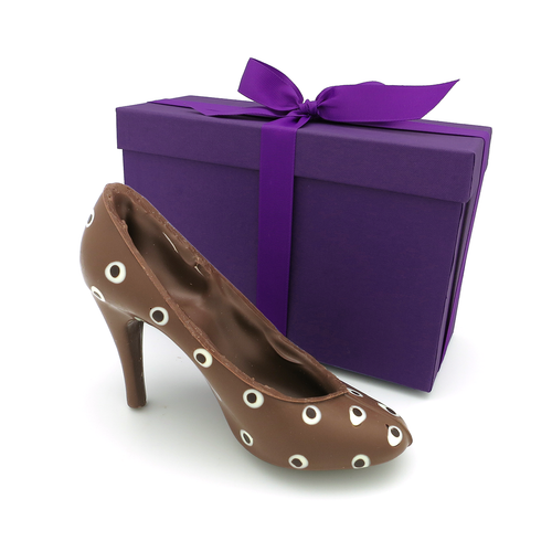 Chocolate High Heel Shoe! Unique Kosher Gift For Purim