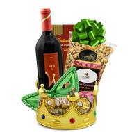A Happy Purim Red Wine Kosher Basket
