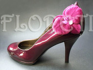 Aphrodite Small Couture Orchid Shoe Clips Violet Burgundy Bridal Shoe Accessories Set of 2