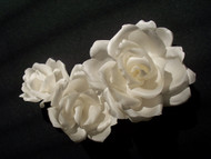Antique White French Silk Rose Wedding Dress Bridal Accessory Sash Set