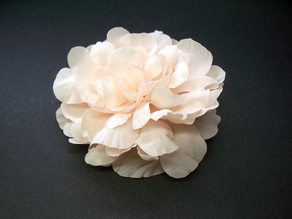 Bridal hair accessory silk hair flower wedding veil pale pink peony mightylinksfo