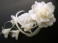 Bridal Headwear Ivory Rose Pearls Crystals Wedding Veil Accessory Comb