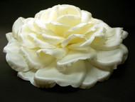 Bridal Large Ivory Silk Rose Hair Clip Veil Accessory Wedding Flower