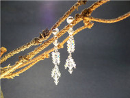 Bridal Snow Angel Swarovski Crystal Sterling Chandelier Earring