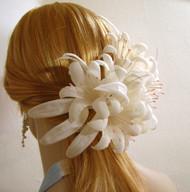 Bridal Veil Accessory Ivory Regal Lily Barrette Headwear Wedding Comb